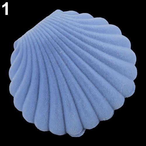 Carino Sea Borsette Scatola di Gioielli Orecchino Collana Anello di Visualizzazione Dell'organizzatore di Immagazzinaggio Dei Monili del Regalo Scatola di Strumenti di Creazione di Gioielli