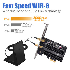 Image 2 - Adattatore Wireless Dual Band PCIe da 3000Mbps Intel AX200 Wi Fi 6 Bluetooth 5.1 scheda Wifi di rete 802/2.4 ac/ax G 5G per PC Desktop
