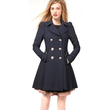 2019 Trench Coat for Women Double-breasted Long-sleeve Long Womens Clothes Plus Size Winter New Hot Sale
