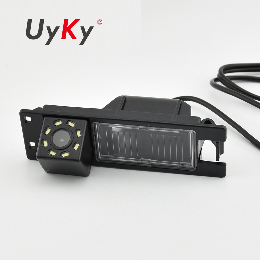 UYKY 8 LED Car Rear View Backup Reverse Camera Fit for Opel Astra H J Corsa Meriva Vectra Zafira Insignia FIAT Grande Regal