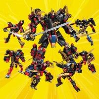 Teknik DIY yapı taşı setleri çocuklar için eğitici oyuncaklar Ninjagoes film tuğla çocuklar için hediyeler