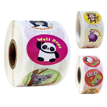 500 Pcs cute animals Reward Sticker rolls for Teachers students Kids in 8 Designs Training Stickers Motivational - discount item  35% OFF Classic Toys