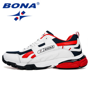 Image 4 - BONA yeni tasarımcılar erkek Sneakers koşu ayakkabıları erkek spor ayakkabılar açık atletik Krasovki tenis ayakkabıları adam koşu ayakkabıları