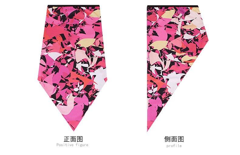 Новое ледяное шелковое треугольное полотенце крутой дышащий платок на голову воротник Мужская и женская маска от Солнца маска ошейник
