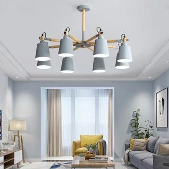 Nordic Macaron Chandelier Modern LED Chandelier for Living Room Loft Indoor Suspendsion Chandelier Lighting Indoor Lighting
