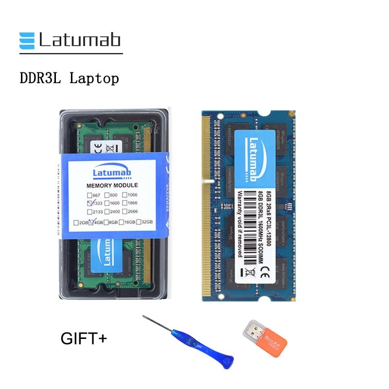 New 4GB 8GB 16GB DDR3L 1600MHz 1866mhz PC3L 12800 14900 Laptop Memory SoDimm Memory Ram 204 Pins Notebook Module SODIMM
