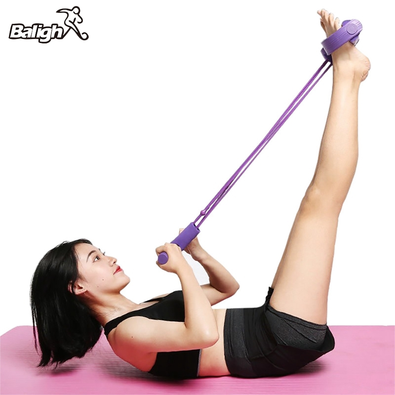 Exerciser Rower Belly Resistance Band <font><b>4</b></font> <font><b>Tubes</b></font> Strong <font><b>Fitness</b></font> Yoga Elastic Pull <font><b>Ropes</b></font> Home Gym Sport Training Elastic Bands image