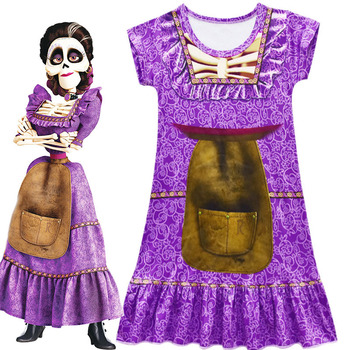 Pixar CoCo Mama Imelda Cosplay Costume Dresses Girls Music Dreaming Around Halloween Family Party Fancy Dress for Kids C19646CH - discount item  31% OFF Costumes & Accessories