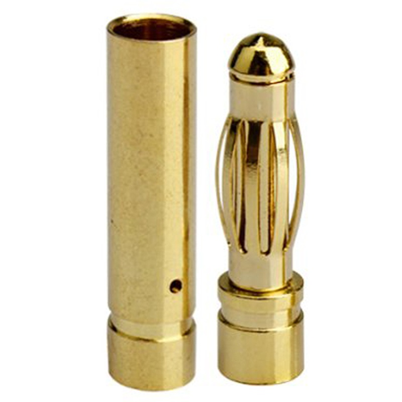 50 sets 4 mm banana Gold contact plug (male + female) electronic or model Connectors     - title=