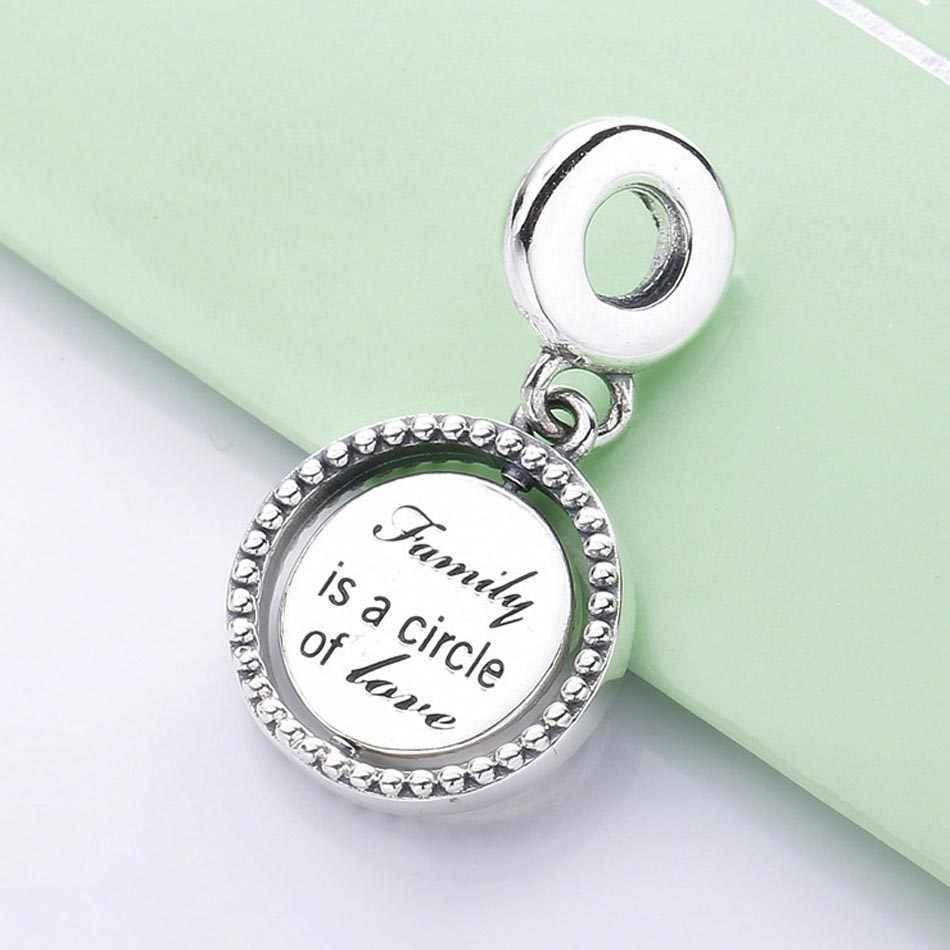 חדש 925 סטרלינג כסף קסם ספינינג עץ של חיים עם קריסטל תליון חרוזים Fit פנדורה צמיד צמיד Diy תכשיטים