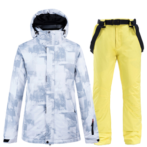 Image 4 - 10k Waterproof Skiing Suits Fashion Winter Set For Men Women Snowboard Clothes Suits Thicken Warm Ski Jacket Pants Plus Size 3XL