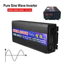 Преобразователь напряжения постоянного тока 12 В 24 В в переменный ток 220 В Чистая синусоида Инвертор 2000 Вт 3000 Вт 4000 Вт мощность чистая синусои...