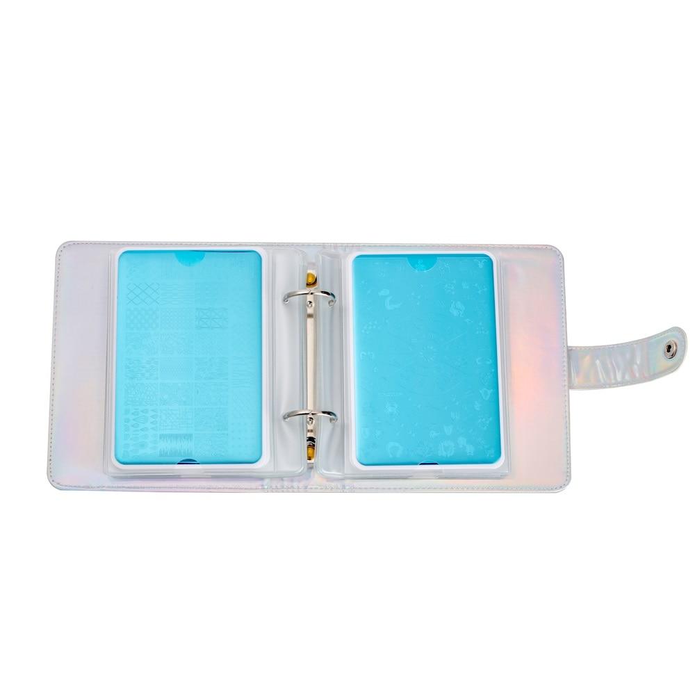 caso laser prata prático vazio retângulo placas