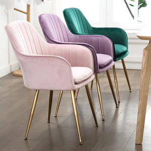 INS Modern Dining Chair Chairs Leisure Chair Armchair Cloth Art customized Living Room Furniture Decoration sofa Salon(China)
