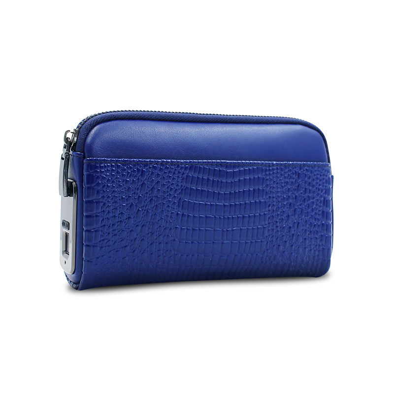 Women Wallets Fingerprint Small Fashion Brand Leather Purse Ladies Card Bag For Women 2019 Clutch Female Purse Money Clip Wallet