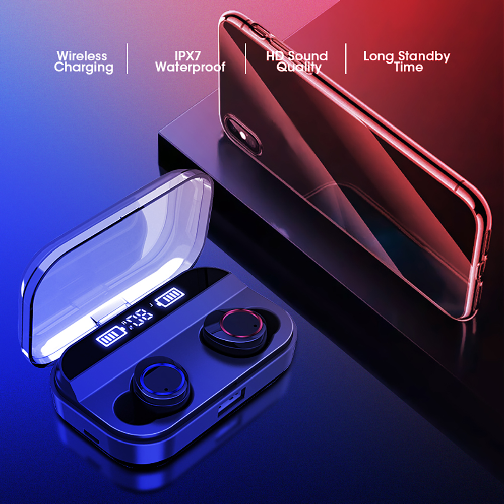 VTIN TWS Wirelress Earphones Bluetooth 5.0 Earphone With 4000mAh Charging Case IPX7 Waterproof Earbuds PK E12 TWS Xiaomi Redmi Airdots (1)