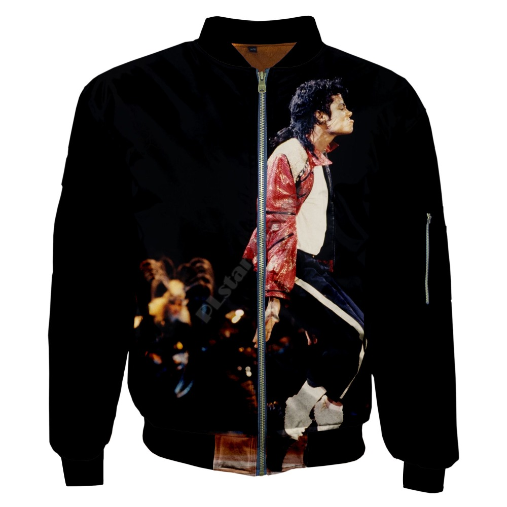 PLstar Cosmos New Fashion Casual 3Dprint Unisex Men/Women King of Pop Michael Jackson Zipper/Bomber Jackets/Hoodies/Hoodie s-1