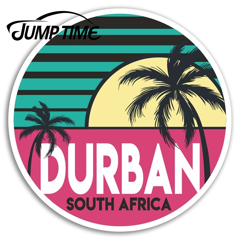 Jump Time for <font><b>Durban</b></font> Vinyl Stickers Africa Fun Travel Sticker Laptop Luggage Car Bumper Decal Waterproof Car Accessories image