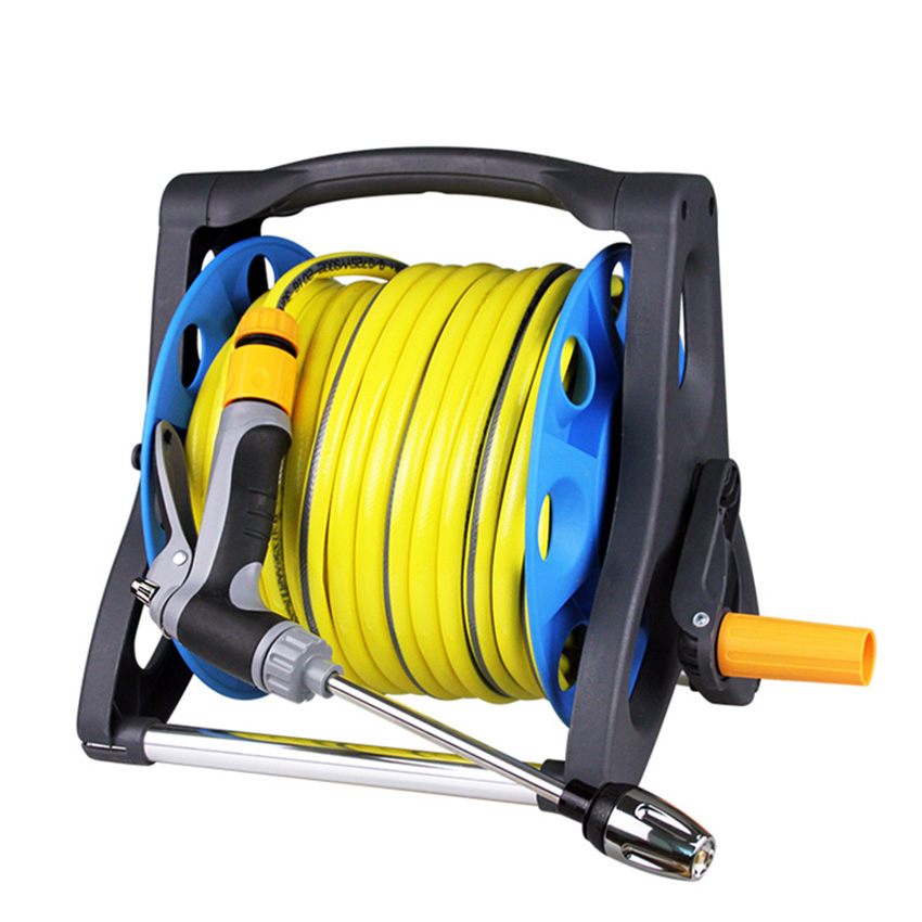 Garden Turntable watering Hose Pipe High-pressure Spray Gun Nozzle With Spray Gun To Watering With water hose storage rack