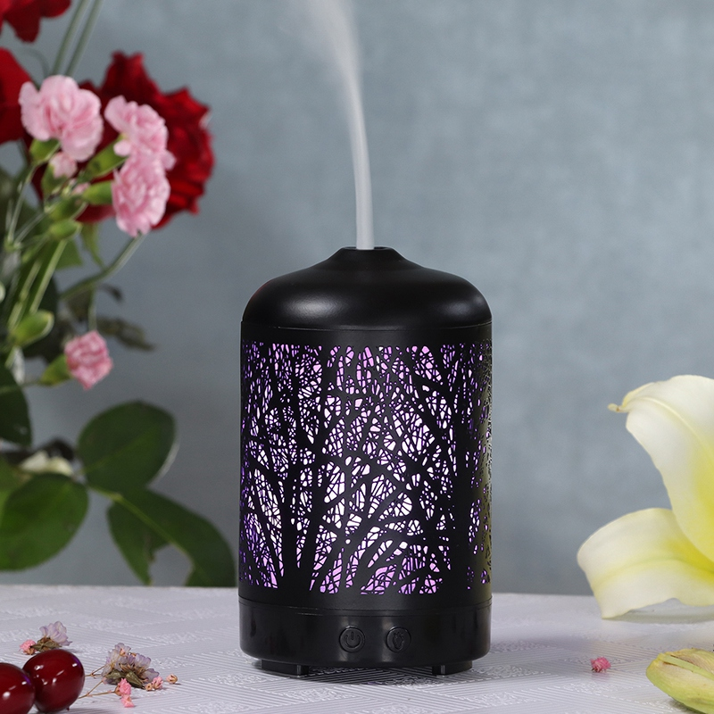 Metal Tree Essential Oil Diffuser 100Ml Aroma Diffuser Ultrasonic Aromatherapy Humidifier Cool Mist Maker for Home Office