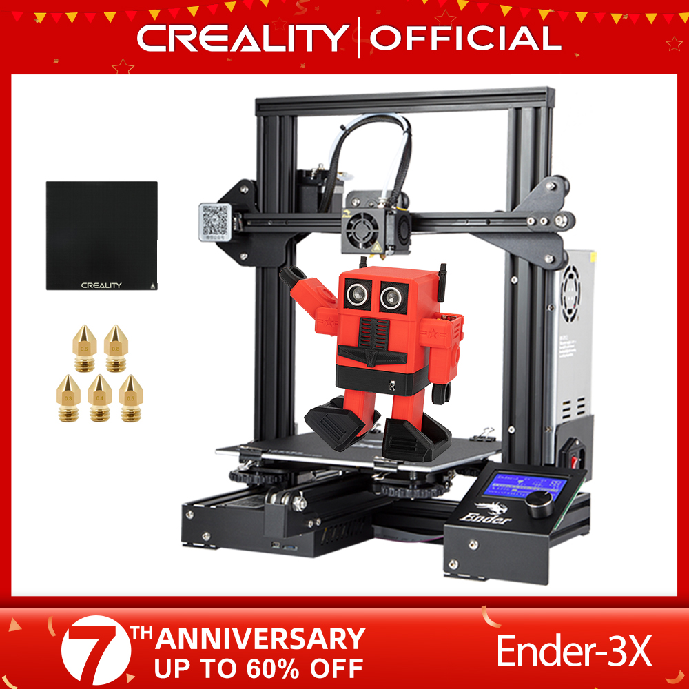 CREALITY 3D-принтеры Ender-3/Ender-3X обновлен закаленное Стекло дополнительно, V-слот резюме Мощность сбой печати DIY KIT очаг