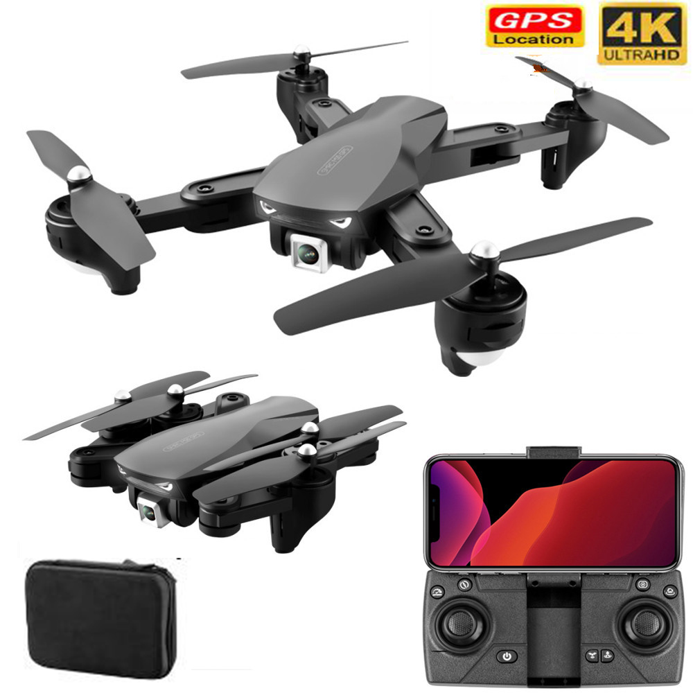 Professional GPS With 4K Wide Angle Drone Camera  Follow me WIFI FPV Quadcopter Foldable Altitude Hold Durable RC Drone