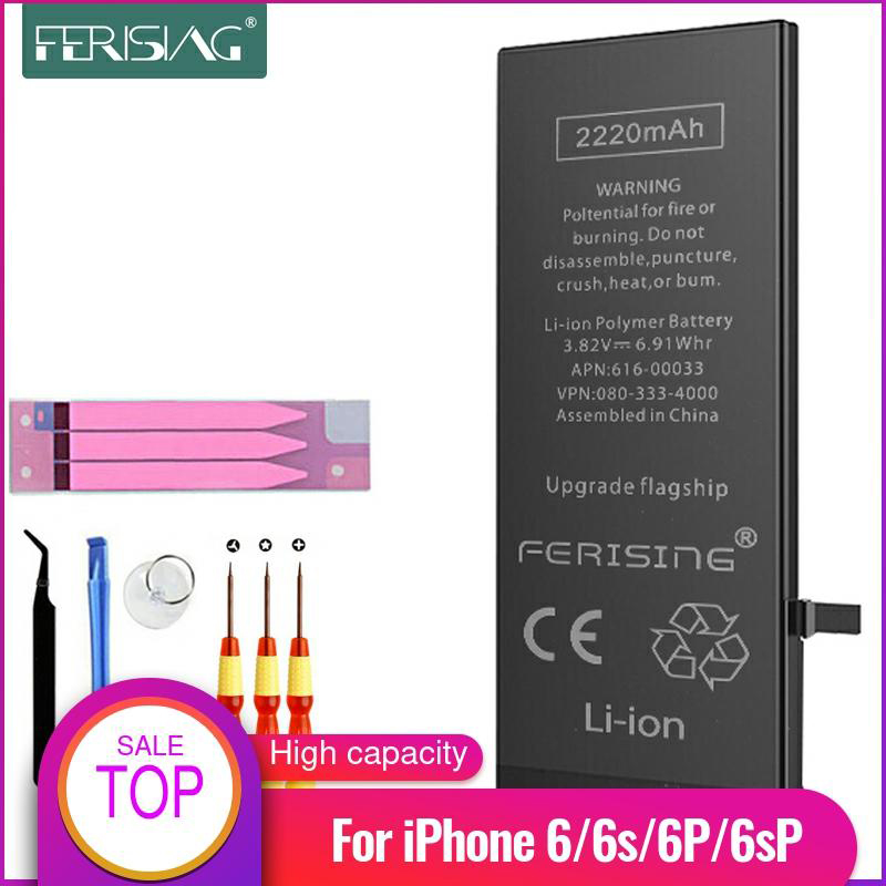 2200mAh/3500mAh <font><b>Battery</b></font> For <font><b>iPhone</b></font> 6 <font><b>6s</b></font> Plus FERISING <font><b>high</b></font> <font><b>Capacity</b></font> Phone Polymer Internal bateria Replacement <font><b>Batteries</b></font> 6Plus image