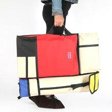 4k bunte mode Tragbare Malerei Bord Tasche Tragen Fall Zeichnung staffelei tasche Wasserdicht Bord Durchführung Skizzen Tasche