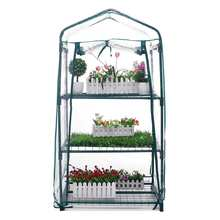 Mini Garden Greenhouse 3 Layers Home Outdoor Flowers Gardening Winter Plant Shelves Vegetables Warm Room Shelter 69x49x126cm
