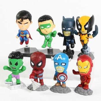 Superheroes Set of 8 Mini Figures 4