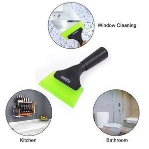 Image 4 - FOSHIO Griff Gummi Rakel Auto Reinigung Werkzeug Carbon Vinyl Wrap Fenster Tönung Glas Küche Sauber Wasser Wischer Schnee Eis Schaber