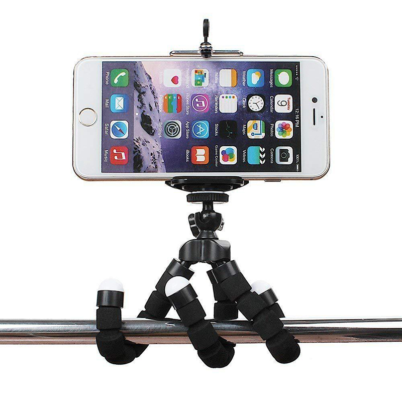 mount accessory For Phone Tripod Mini Flexible Sponge Octopus Holder For iPhone Xiaomi Huawei Smartphone Camera Card Tripod Mount Accessory Clip (2)