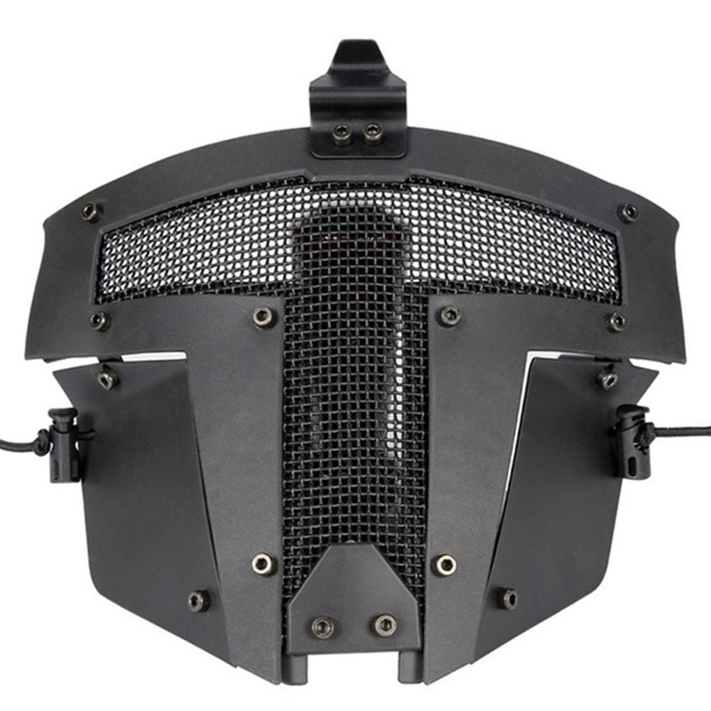 Tactical Half Face Net Mask Outdoor Breathable Hunting Military Full Paintball Safety Mask Masks Face Airsoft Shooting N5K2
