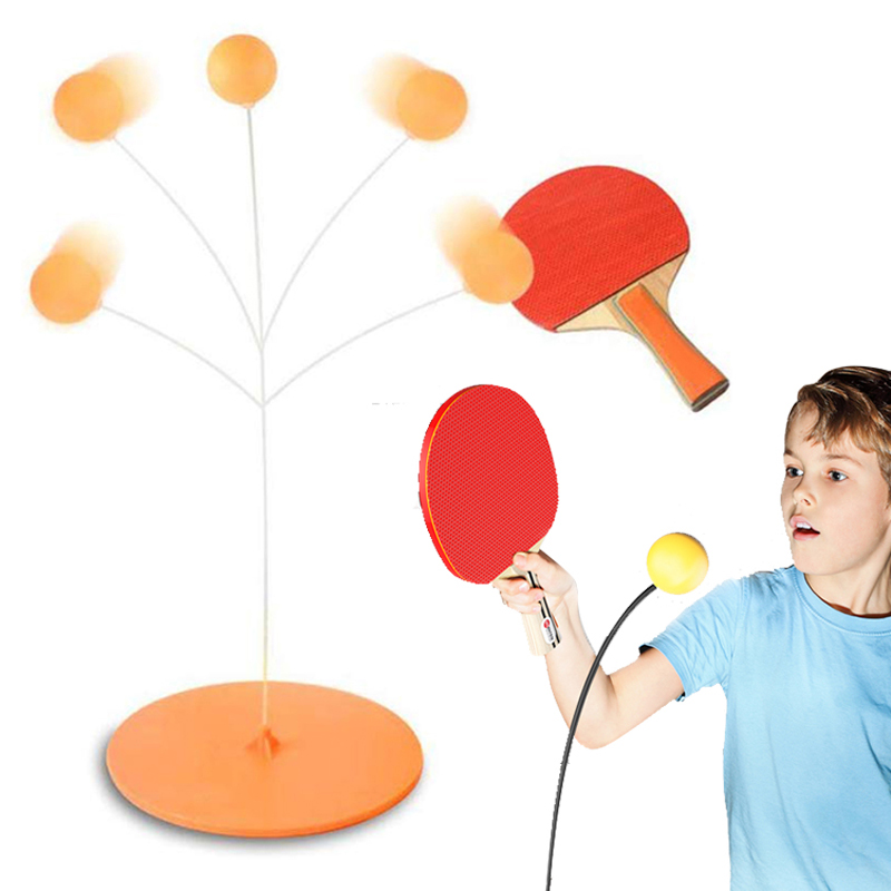 winnerruby Table Tennis Set,Ping Pong Trainer,Family Table Tennis Set for Kids Trainer Eyesight Exercise Leisure Sports Gear