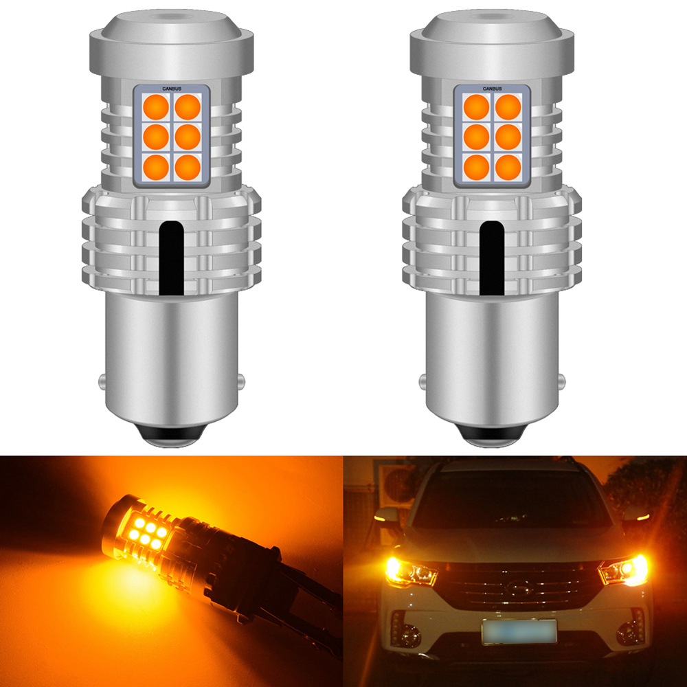 2pcs Canbus Error Free 1156 BA15S P21W PY21W Lamp 7506 7507 <font><b>Led</b></font> <font><b>Bulb</b></font> <font><b>T20</b></font> Car <font><b>Rear</b></font> Turn Signal Light For VW Jetta Golf 4 5 7 6 CC image