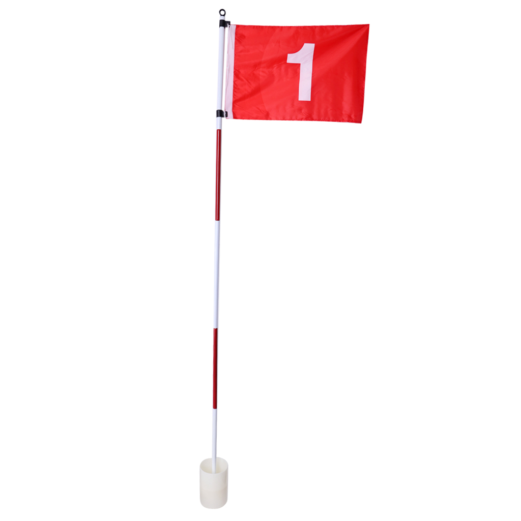 Portable Lightweight Golf Flag Stick & Cup Backyard Practice Training Aid Portable 5 Section Flagstick Golf Accessories