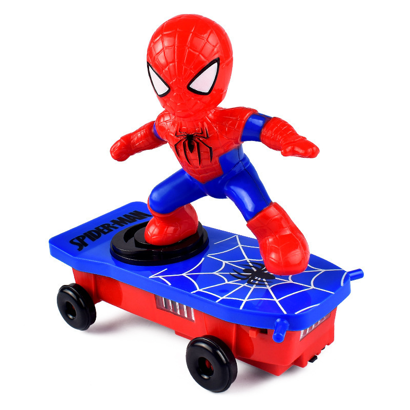 Manufacturers Direct Selling Spider Stunt Scooter Electric Universal Music Fan Gun Che Children Cartoon Toys