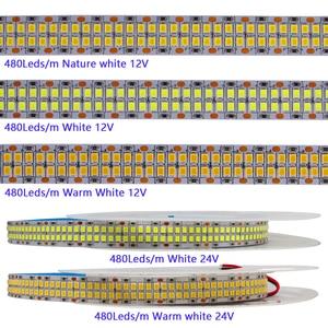 Image 3 - تيار مستمر 5 فولت 12 فولت 24 فولت سمد 2835 Led قطاع ضوء 5 متر شريط ليد أبيض الشريط لا مصباح مقاوم للماء شرائط ضوء المطبخ ديكور المنزل التلفزيون ليدستريب