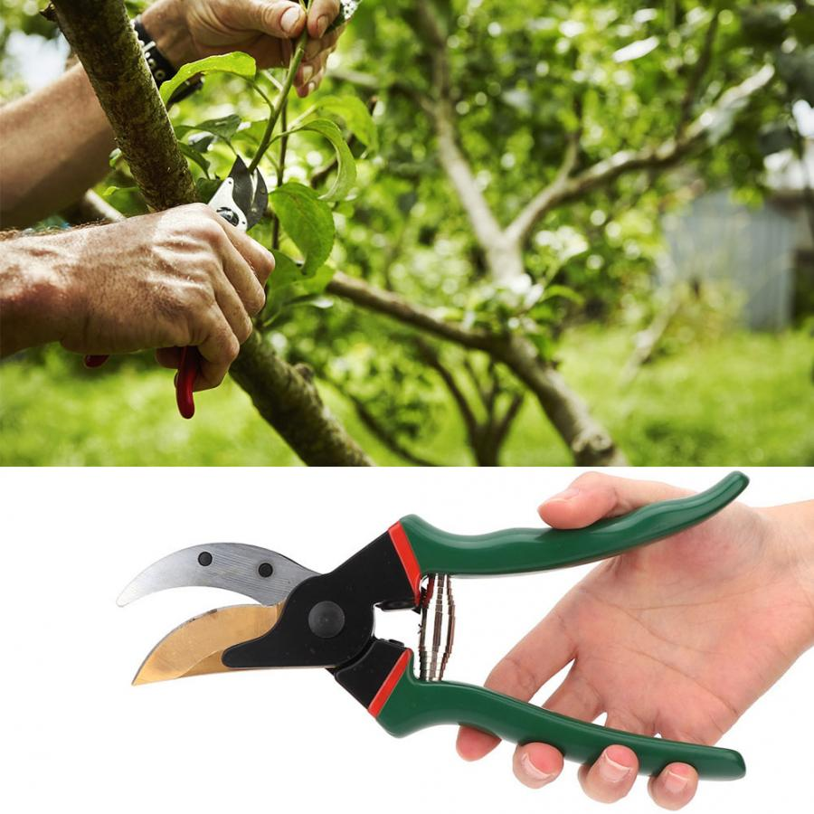 Stainless Steel Pruning Scissors Shears Snips Garden Farm Flowers Hand Tool New