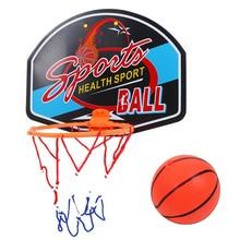 купить Outdoor-Indoor Children Basketball Toys Plastic Basketball Toy Mini Inflatable Ball Pump Backboard Rim Children Kids Wall Game по цене 268.99 рублей