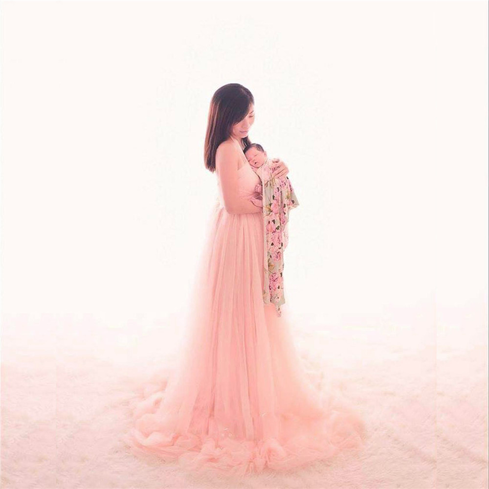 Tulle Sexy Maternity Dresses Photography Props Long Fancy Pregnancy Dress Mesh Pregnant Women Maxi Gown Clothes For Photo Shoots (7)