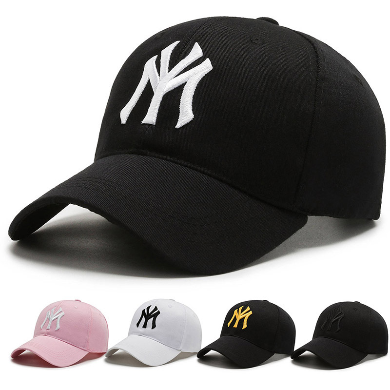 New York 3D Embroidery Baseball Cap 100% Cotton MY Dad Hat Letter Snapback Summer Sun Fashion Hip Hop