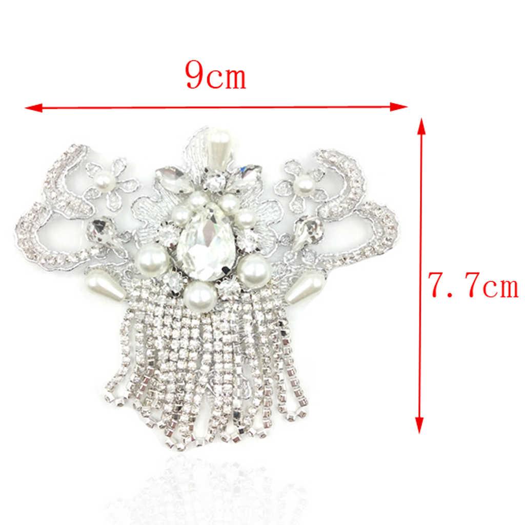 2pieces Rhinestone Crystal Wedding Bridal Diamante Sparkle Shoe Charm Clips