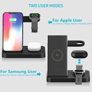 Image 3 - 15W Qi Wireless Charger 5 in 1 Charging Dock Station for Samsung Galaxy Watch Buds Gear For Apple iWatch iPhone 11 X Airpods Pro