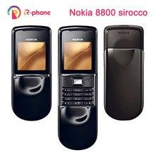 100% Оригинальный NOKIA 8800 Sirocco мобильный сотовый телефон GSM разблокированный 128MB 8800se 8800D телефон Восстановленный Русская клавиатура