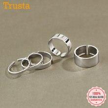 Trusta – bague en argent Sterling 100% pour femme et fille, anneau d'ouverture à la mode, Style brillant, idéal pour le bureau, idée cadeau, DS006