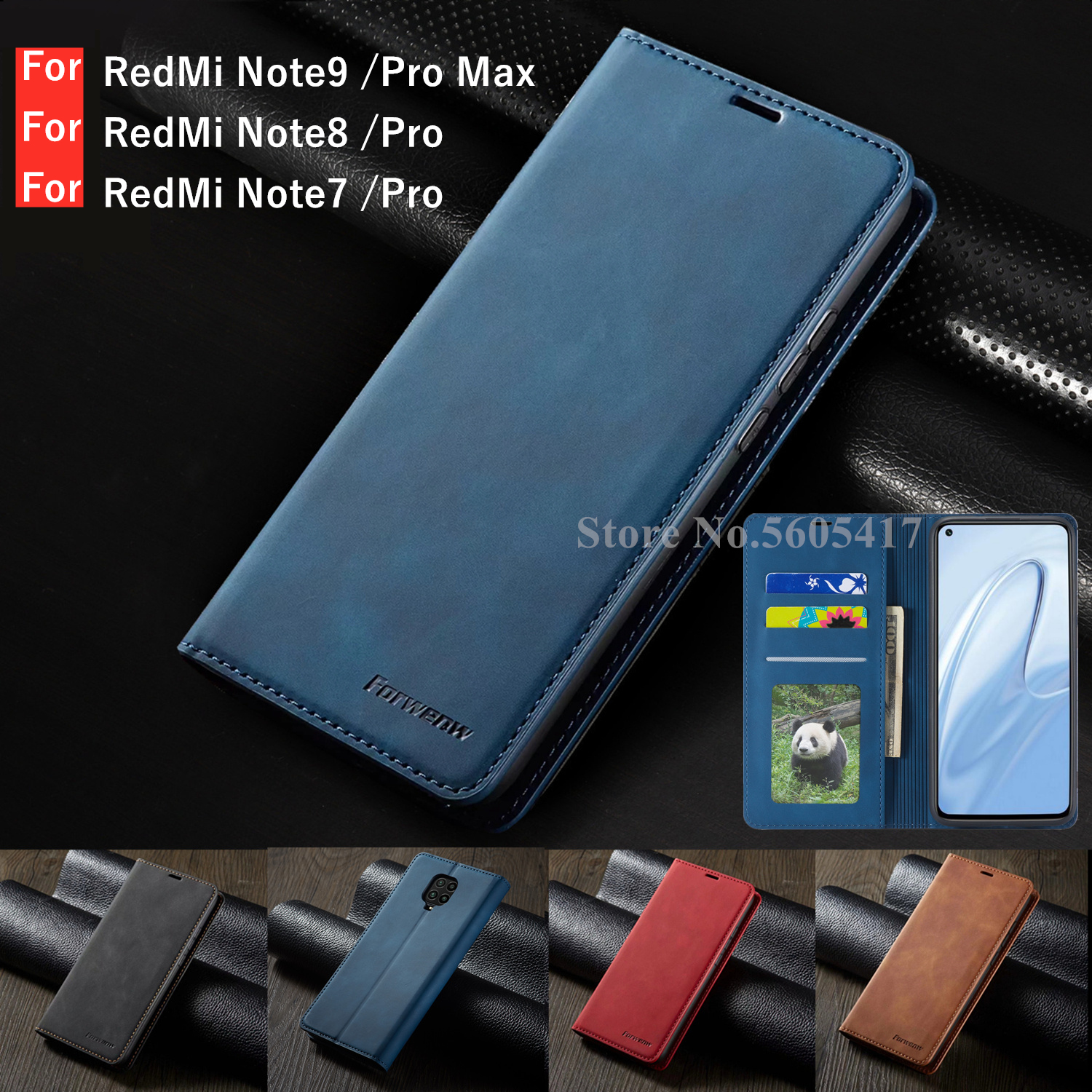 Luxury <font><b>Wallet</b></font> Redmi Note9s Note8pro Leather <font><b>Case</b></font> For <font><b>Xiaomi</b></font> <font><b>Mi</b></font> Redmi Note 9s <font><b>9</b></font> 8 7 Pro Max Strong Magnetic <font><b>Flip</b></font> Card Phone Cover image