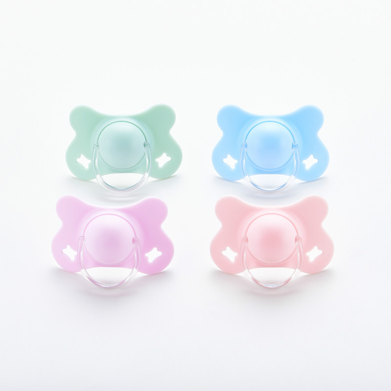 Baby With Cover Butterfly Pacifier / Baby Pacifier Bite Play Mouth Newborn Silicone Sleeping Pacifier