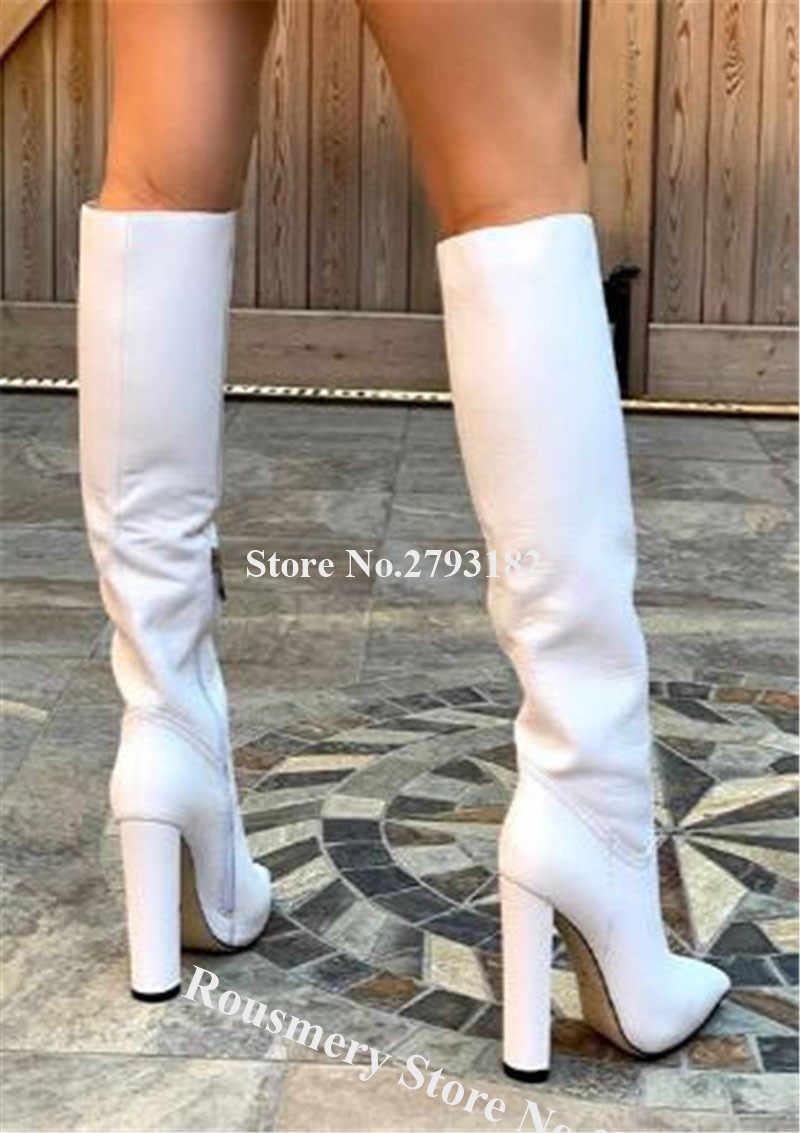 Women Elegant Fashion Pointed Toe Knee