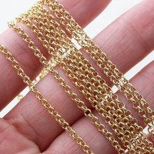 Lunghezza: 1m o-chain orecchini fai-da-te forniture bracciale collana strumenti per la creazione di gioielli accessori rame placcato oro 18 carati